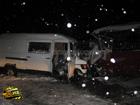 На Хмельнитчине автобус опасно выскочил на встречку. Как назло в это время по ней ехала машина. Фото
