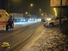 Киев. Молодчик на «Бумере» возомнил себя Шумахером. Это едва не привело к трагедии. Фото
