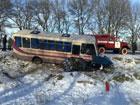 На Одесщине женщина на «Жигулях» лоб в лоб повстречалась с автобусом. Последствия печальны. Фото