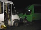 В Харькове из-за оплошности водителя столкнулись две маршрутки. А страдают, как всегда, пассажиры. Фото