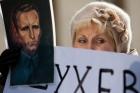 Как под носом у Януковича митингующие почтили память Шухевича. Фото