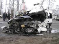 Под Киевом Citroen лоб в лоб повстречался с огромной фурой. Погибли три человека. Фото