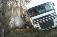 Под Киевом уснувший водитель едва не устроил масштабный взрыв. Цистерна с газом слетела в кювет