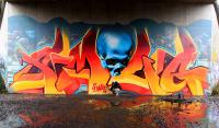 Британский арт-хулиган придумал новую технику граффити. Фото