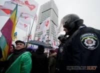 «Ганьба!», дождь, человек с рупором и веселые менты. В Киеве продолжают судить Леди Ю. Фото