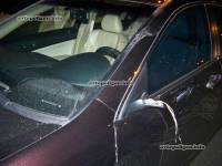 Киев. Зазевавшись, водитель «Хонды» сбил на «зебре» пешехода. Фото
