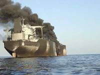 В Азовском море наконец-то потушили горящий сухогруз. Говорят, пожар начался из-за взрыва