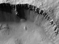 В Сети появился невероятный 3D-снимок марсианского кратера. Фото