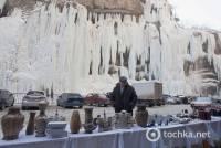 В российском Нальчике из-за сильных морозов даже водопад замерз. Фото