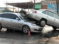 Автокамасутра – неудобно и очень дорого. В Сумах Mazda без предупреждения поднырнула под Daewoo