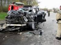 На Хмельнитчине огромная фура смяла Lexus. Благо, жертв удалось избежать