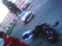 В Запорожье девушка за рулем Daewoo не сочла нужным пропустить мотоциклиста. А зря…