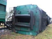 В Донецкой области сошел с рельсов грузовой поезд