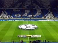 На матче «Динамо»-«Боруссия» болельщики устроили эффектное шоу