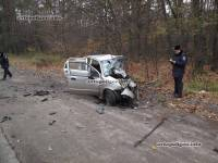 Под Киевом микроавтобус Opel Vivaro влетел в крошечный Daewoo Matiz. У пассажиров последнего шансов выжить практически не было