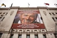 В ответ на акцию римских властей в поддержку Тимошенко на фасаде мэрии Харькова появился портрет Берлускони