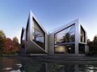 Британские дизайнеры придумали дом-оригами, который умеет приспосабливаться к погоде и изменениям климата