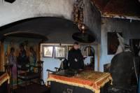 Видео поджога храма Десятинного мужского монастыря в Киеве