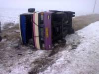 На Херсонщине переполненный автобус слетел с дороги. Увы, без жертв не обошлось