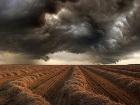Бескрайняя степь перед бурей выглядит очень страшно. И очень красиво