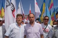 Михаил Соколов и Роман Забзалюк возглавили колонну николаевцев на акции протеста «Вставай, Украина!»
