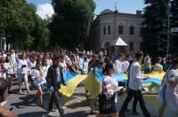 В Полтаве прошел марш в вышиванках