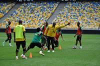 Перед матчем с Украиной  сборная Камеруна опробовала «Олимпийский»