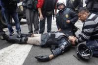В Перу с манифестантами особо не церемонятся. Фоторепортаж с места событий