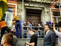 Под Киевским горуправлением МВД требовали прекратить «ментовский беспредел»