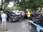 В Одессе неадекват на «Лексусе» разбил пять машин, куда-то везя беременную жену и малолетнюю дочь