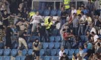 В Одессе сербские фанаты устроили драку прямо на стадионе
