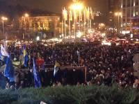 На Евромайдане собрались тысячи людей