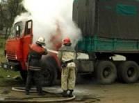 На Сумщине в кабине горящего КамАЗа погиб водитель