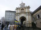 В Вильнюсе состоялось торжественное шествие и молебен за Украину