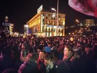 На Евромайдане ждут лидеров оппозиции, а на Антимайдане агитируют за Януковича
