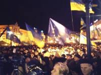 На Евромайдан приехали Кличко, Яценюк и Тягнибок
