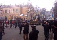 Возле Администрации Президента схлестнулись провокаторы и евроинтеграторы