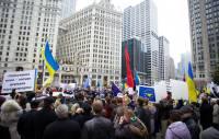 Украинская диаспора встала на поддержку Евромайдана. К акции уже присоединились 14 городов по всему миру