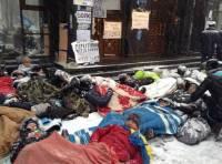 Активисты Евромайдана снова устроили лежачий протест у стен ГПУ