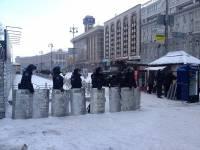 Внутренние войска перекрыли все подходы к Майдану Незалежности