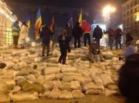 Эта ночь на Евромайдане. Спокойно, но холодно
