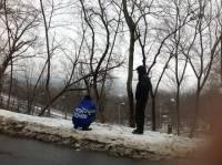 Антимайдан в Мариинском парке: Некоторые уже с утра еле стоят на ногах