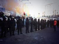 На Европейской площади собирается Антимайдан. От Евромайдана его отгородили «Беркутом»