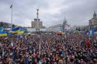 На Евромайдан вышли почти полмиллиона человек. Милиция насчитала лишь 20 тысяч