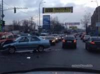 В Киеве не разминулась модная милицейская «Тойота» и скромный «Чери»