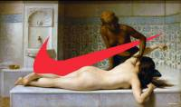 Логотип Nike в мировой живописи