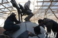 Памятник Валерию Лобановскому установили на новом месте