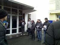 Евромайдан пришел пикетировать МВД со снимками избитой Чорновол