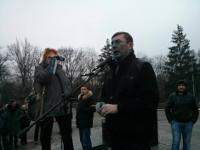 Облившие Луценко зеленкой харьковчане отделались небольшими штрафами и обещаниями больше так не делать