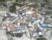 На Донбассе добрый самаритянин перебросил через забор исправительной колонии 60 бутылок спиртного